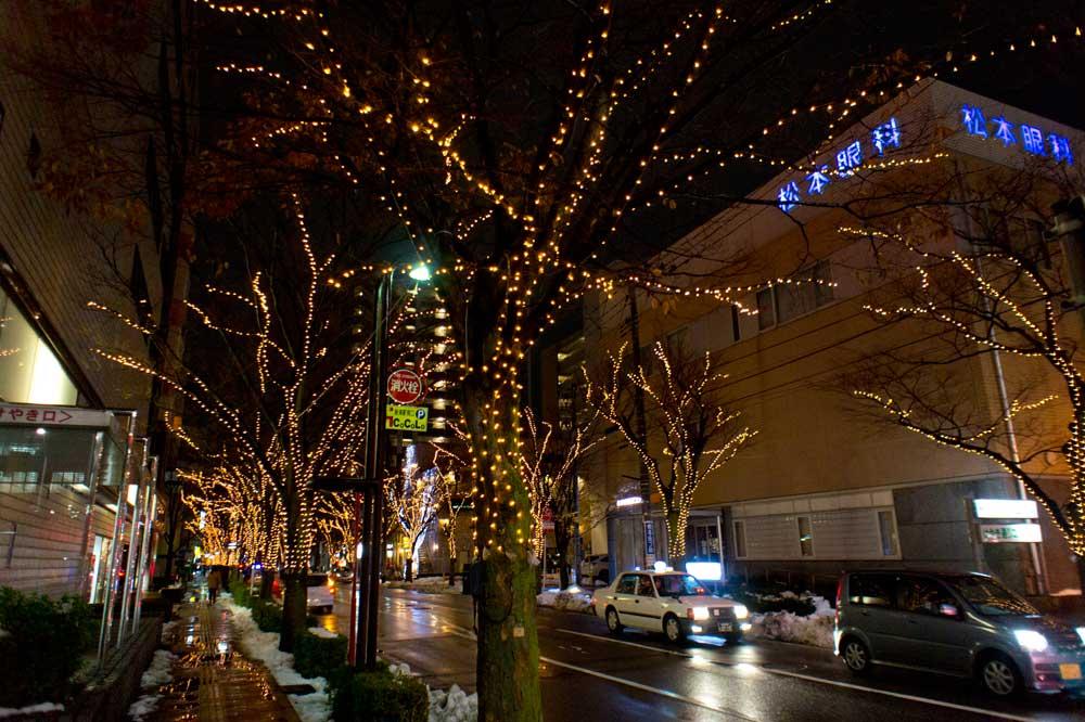 師走を感じる新潟駅南の風景、「2014NIIGATA光のページェント」に行ってみました(動画付き)