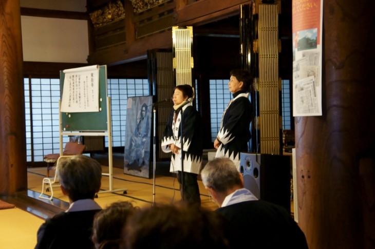 長徳寺で聞く、安兵衛ゆかりの詩吟も趣があります。