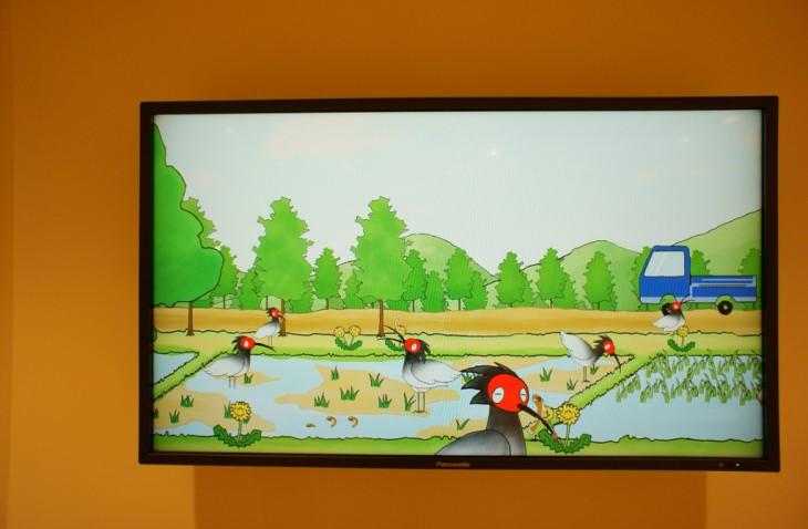 トキを紹介するアニメなどもあります。子どもたちが喜びそうですね。