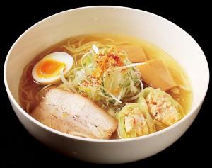 中・上越2位通過、長岡市「武者気」さんの「新潟海老真丈ロール塩ラーメン」。※当日提供するラーメンは、丼・盛り付けが異なります。