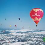 色とりどりの気球が冬の空を飾る、白と光の祭典「おぢや風船一揆」が開催(2/28・3/1)