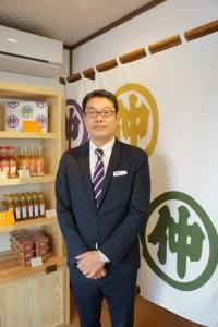 峰村商店代表取締役の葉葺正幸さん。「沼垂と月岡が『醸す』をキーワードに、お互い発展していければうれしいです」とのこと。