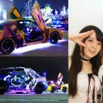 クールジャパン! 「がたふぇす」プレイベント 痛車とアイドルがビッグスワンに来場