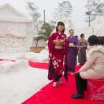 雪が育んだビッグな祭りと織物産業